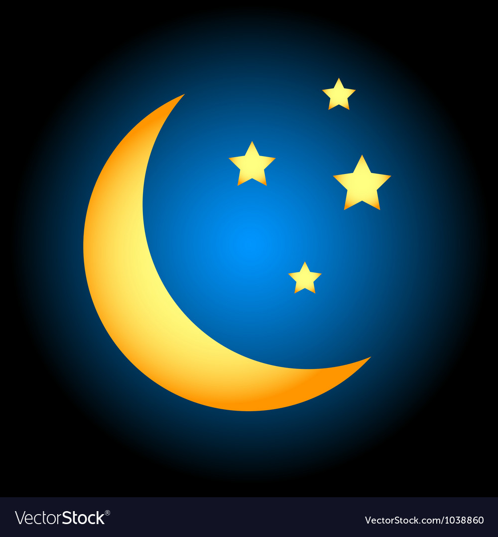 Moon symbol vector | Price: 1 Credit (USD $1)