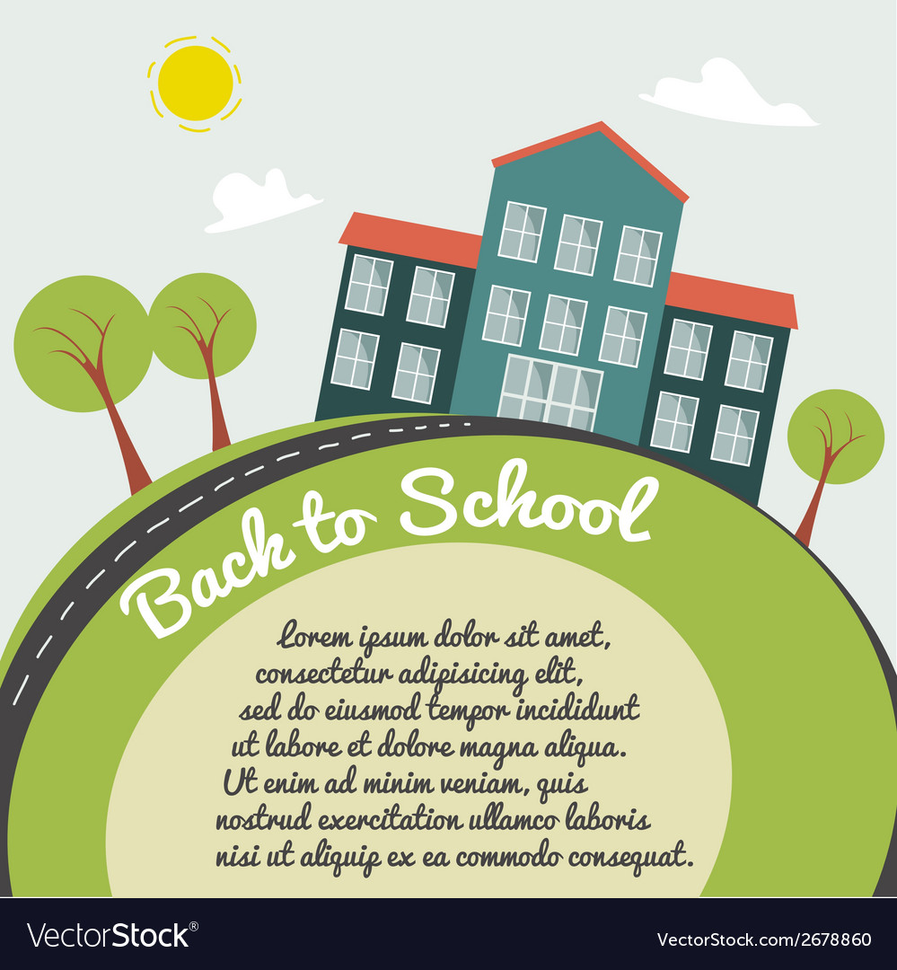 On back to school background vector | Price: 1 Credit (USD $1)
