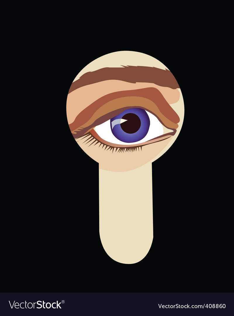 Peeping eye vector | Price: 1 Credit (USD $1)