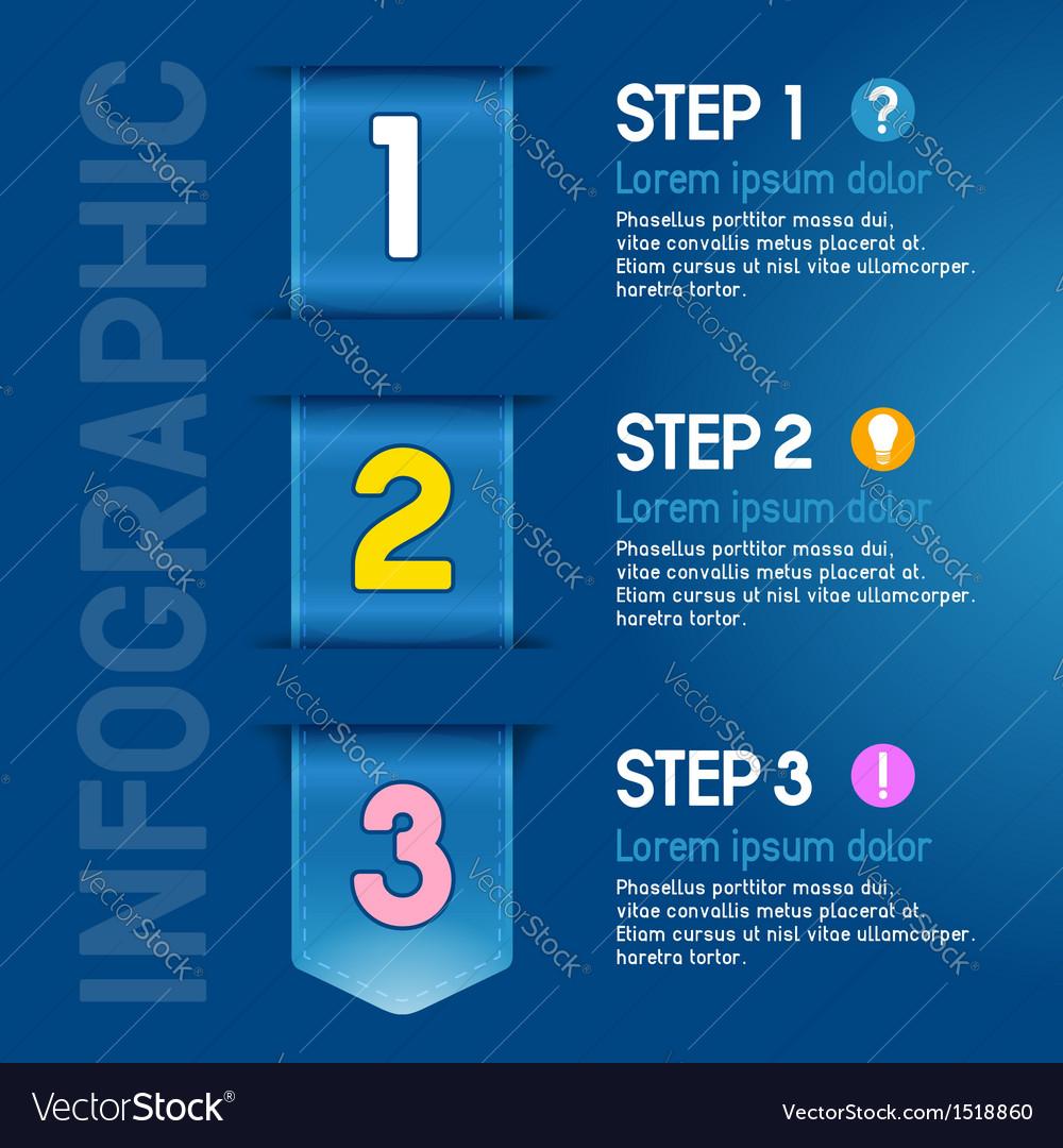 Progress steps vector | Price: 1 Credit (USD $1)
