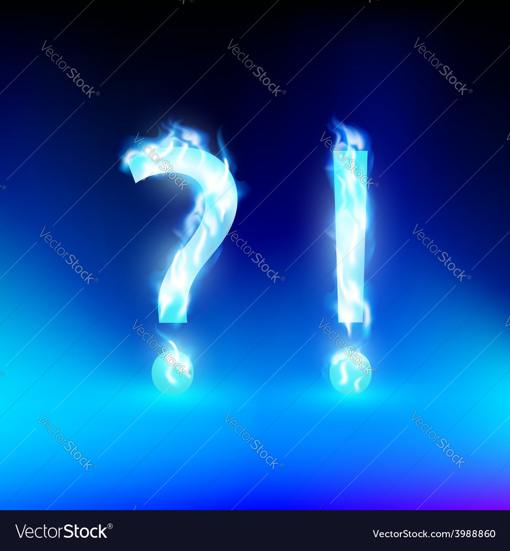 Question mark and exclamation mark with a blue vector | Price: 1 Credit (USD $1)