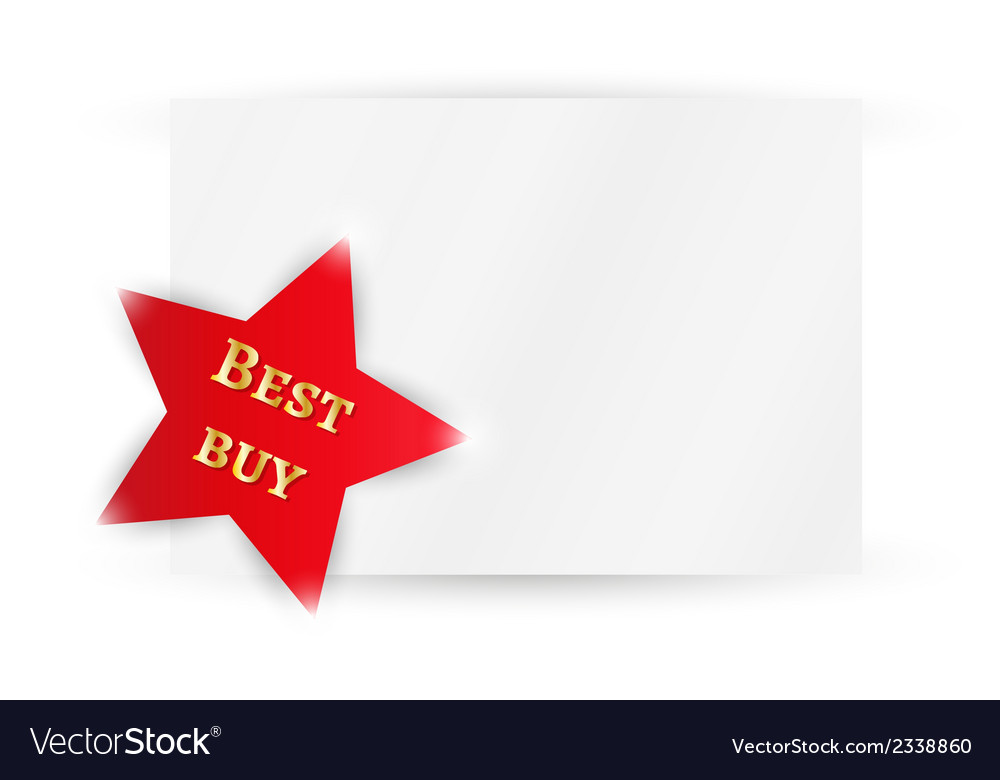 Star with best buy vector | Price: 1 Credit (USD $1)