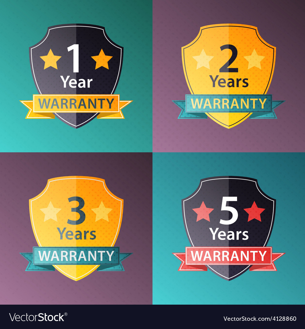 Warranty signs set in halftone texture style vector | Price: 1 Credit (USD $1)