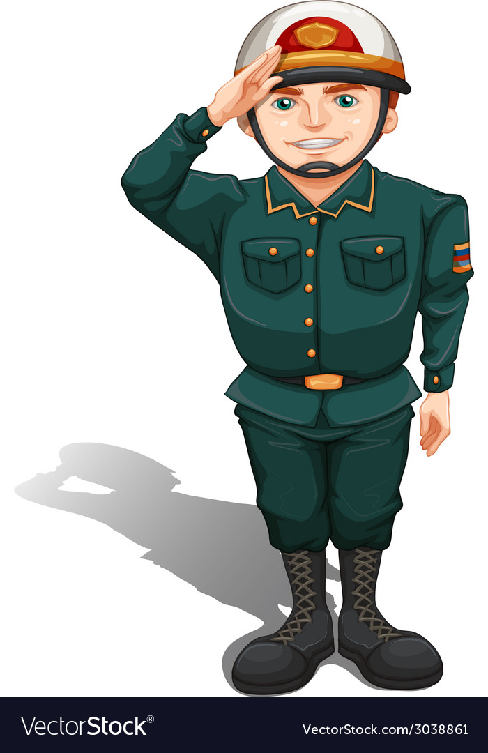 A soldier showing some respect vector | Price: 1 Credit (USD $1)