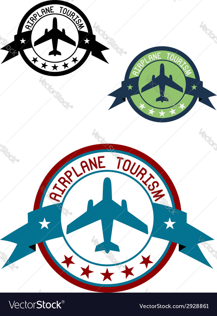 Airplane tour logo vector | Price: 1 Credit (USD $1)