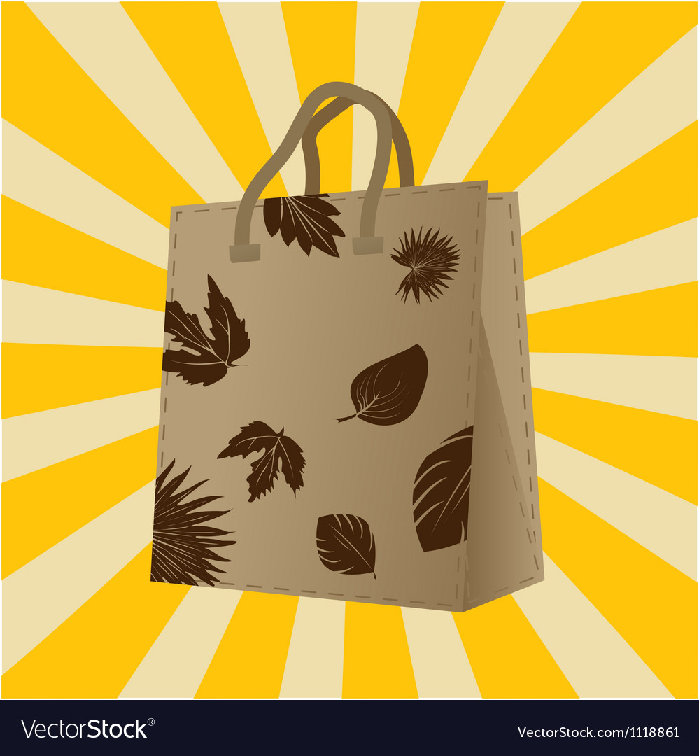 Autumn sales shopping bag vector | Price: 1 Credit (USD $1)