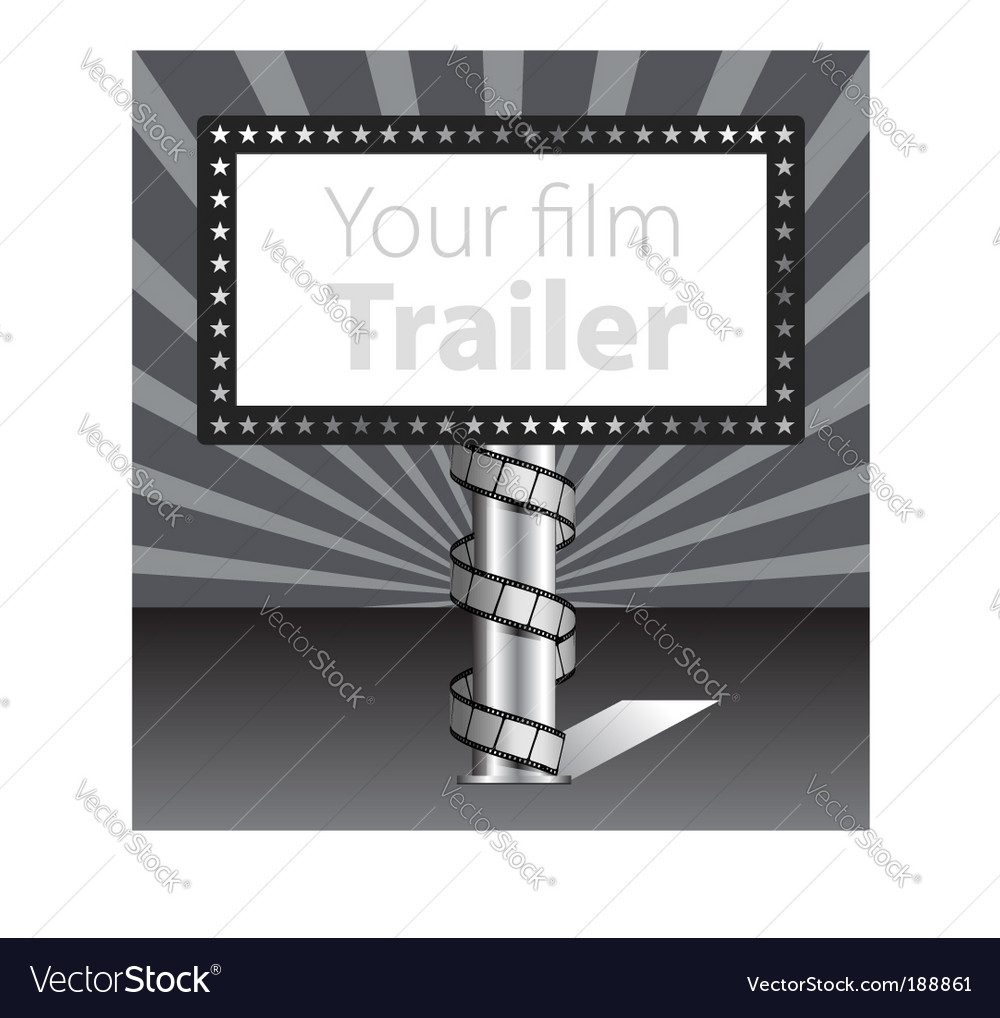 Billboard with film strip illustration vector | Price: 1 Credit (USD $1)