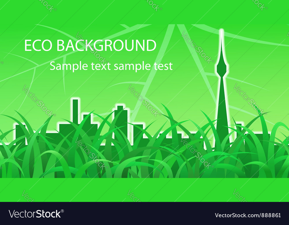 Ecological background vector | Price: 1 Credit (USD $1)
