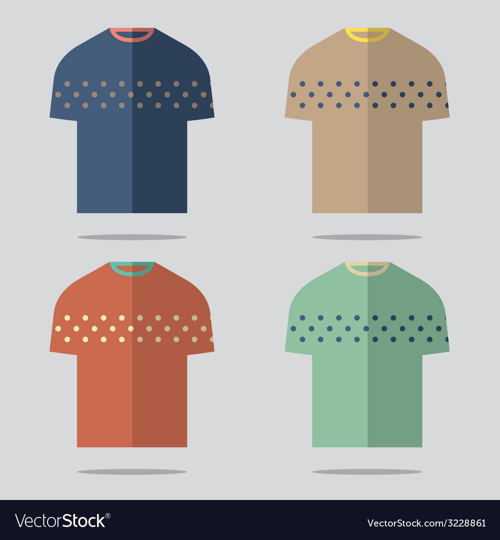 Flat design t-shirt set vector | Price: 1 Credit (USD $1)