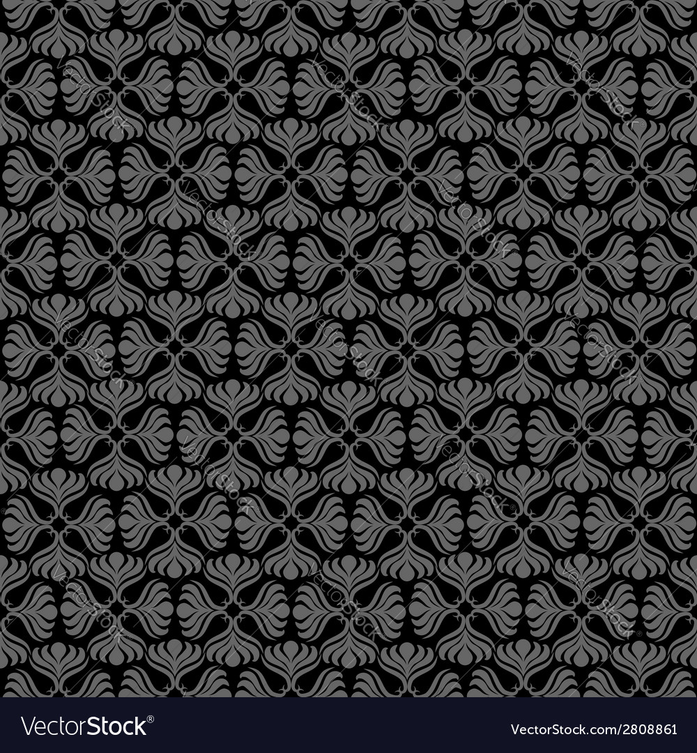 Grey retro seamless pattern vector | Price: 1 Credit (USD $1)