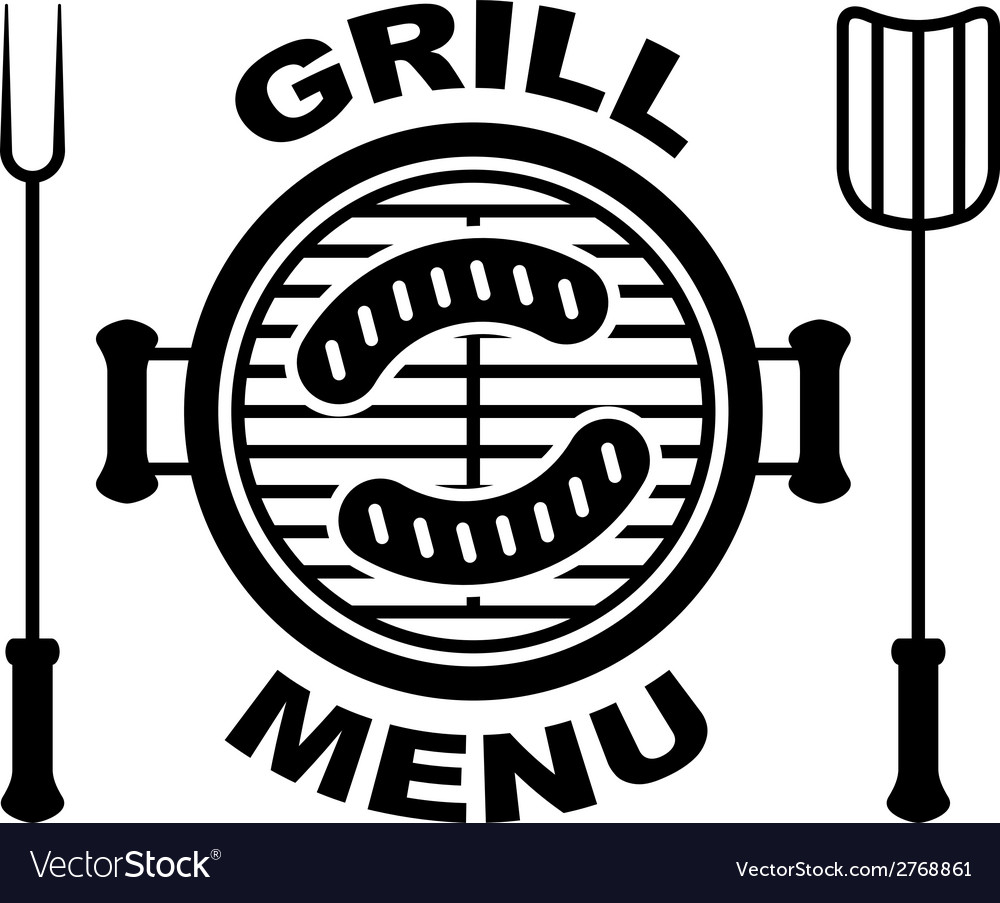 Grill menu symbol vector | Price: 1 Credit (USD $1)