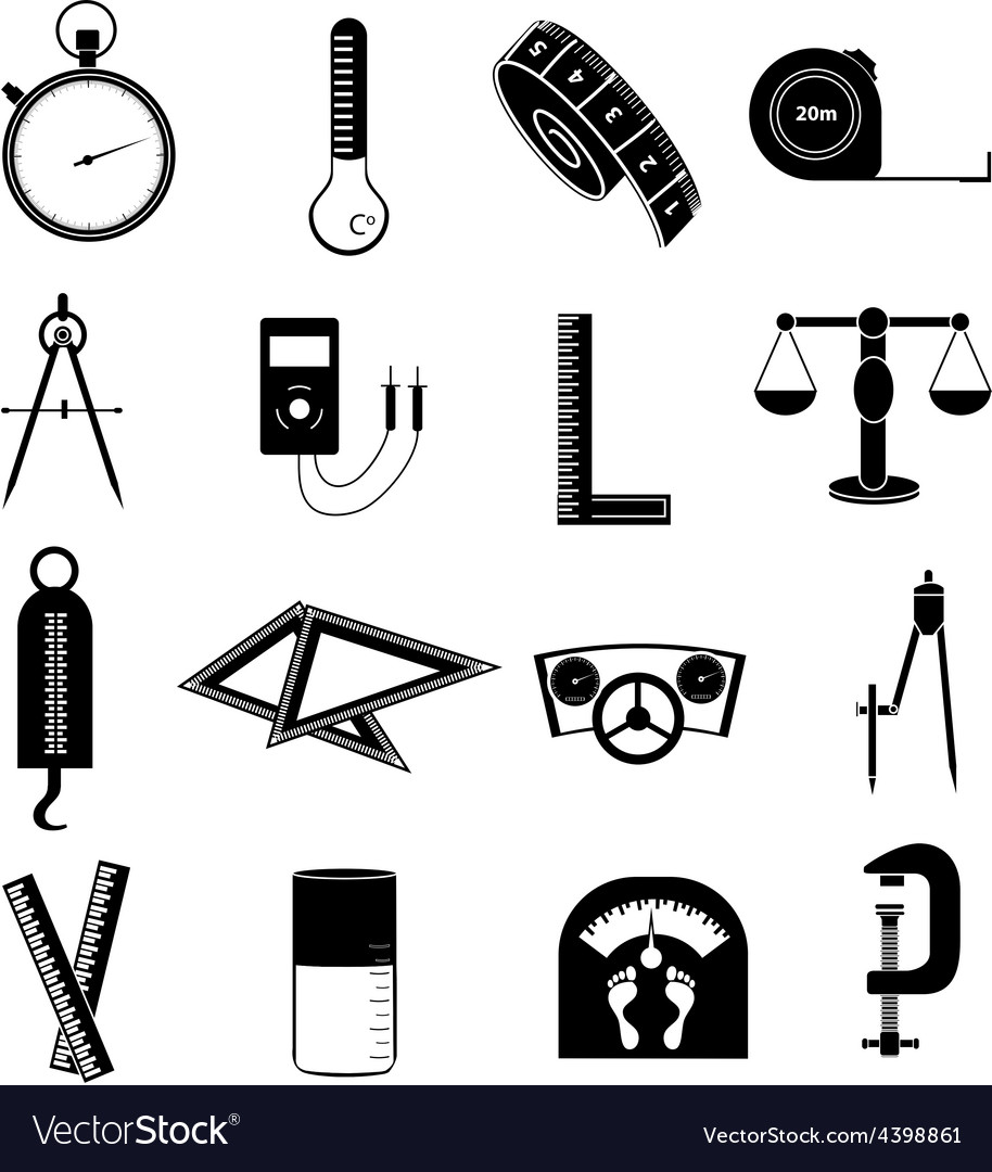Measure tools icons set vector | Price: 3 Credit (USD $3)