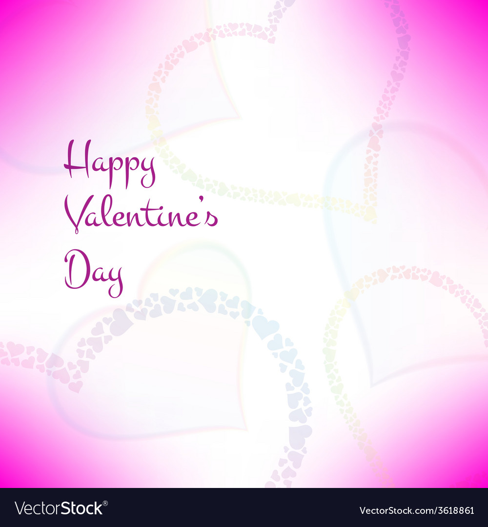 Pink valentines card with stylish hearts vector | Price: 1 Credit (USD $1)