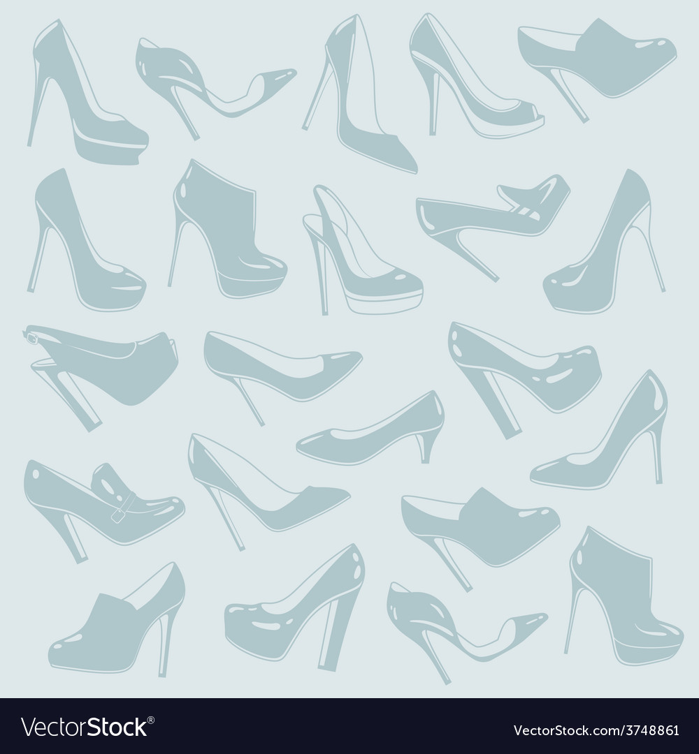 Shoes pattern vector | Price: 1 Credit (USD $1)