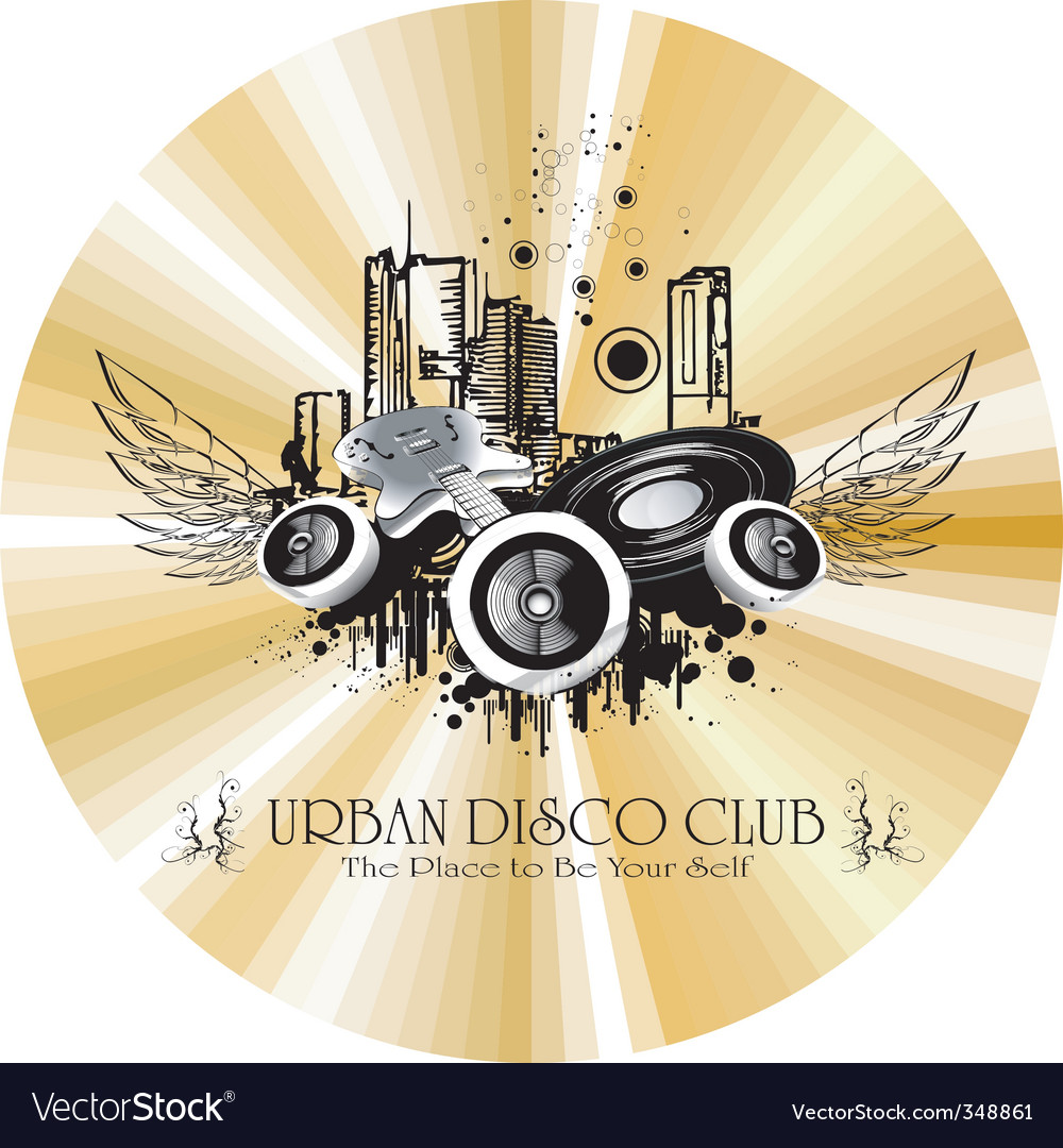 Urban discotheque vector | Price: 1 Credit (USD $1)