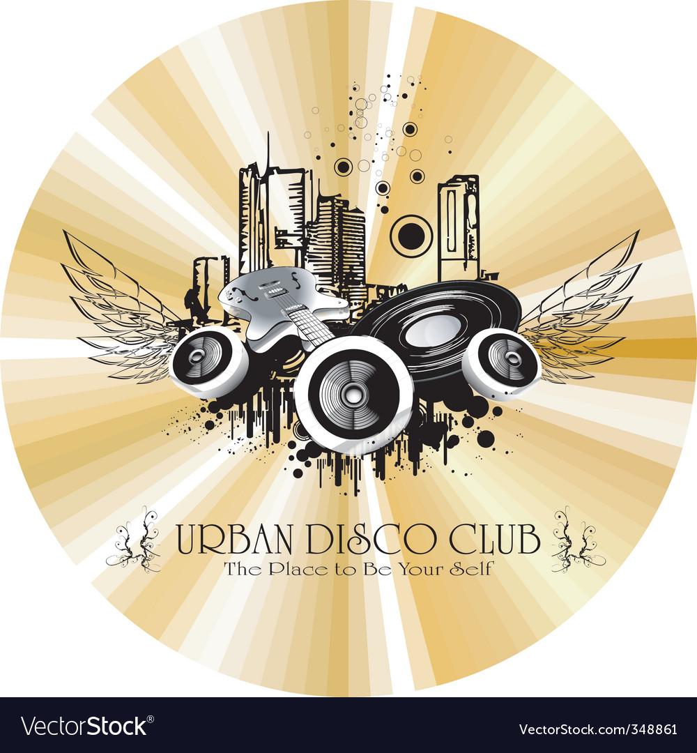 Urban discotheque vector | Price: 1 Credit (USD $1)