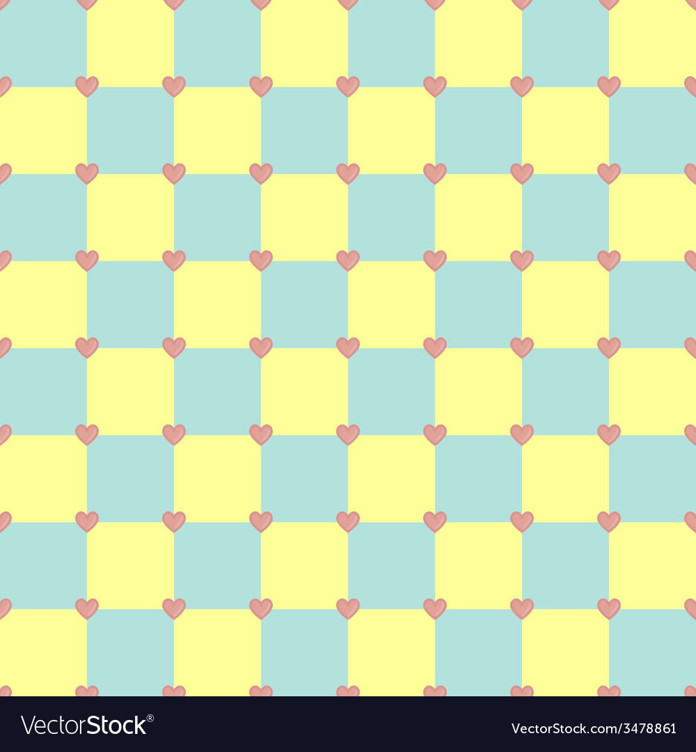 Yellow and turquoise colors pattern with pink vector | Price: 1 Credit (USD $1)