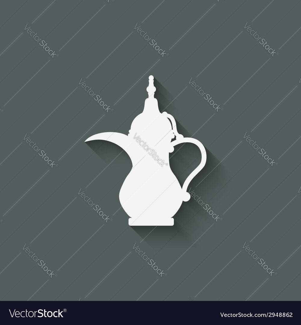 Arabic coffee pot vector | Price: 1 Credit (USD $1)
