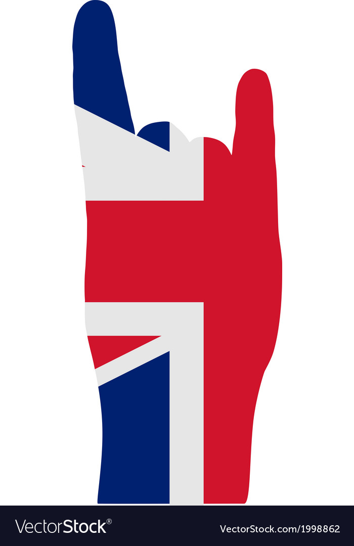 British finger signal vector | Price: 1 Credit (USD $1)