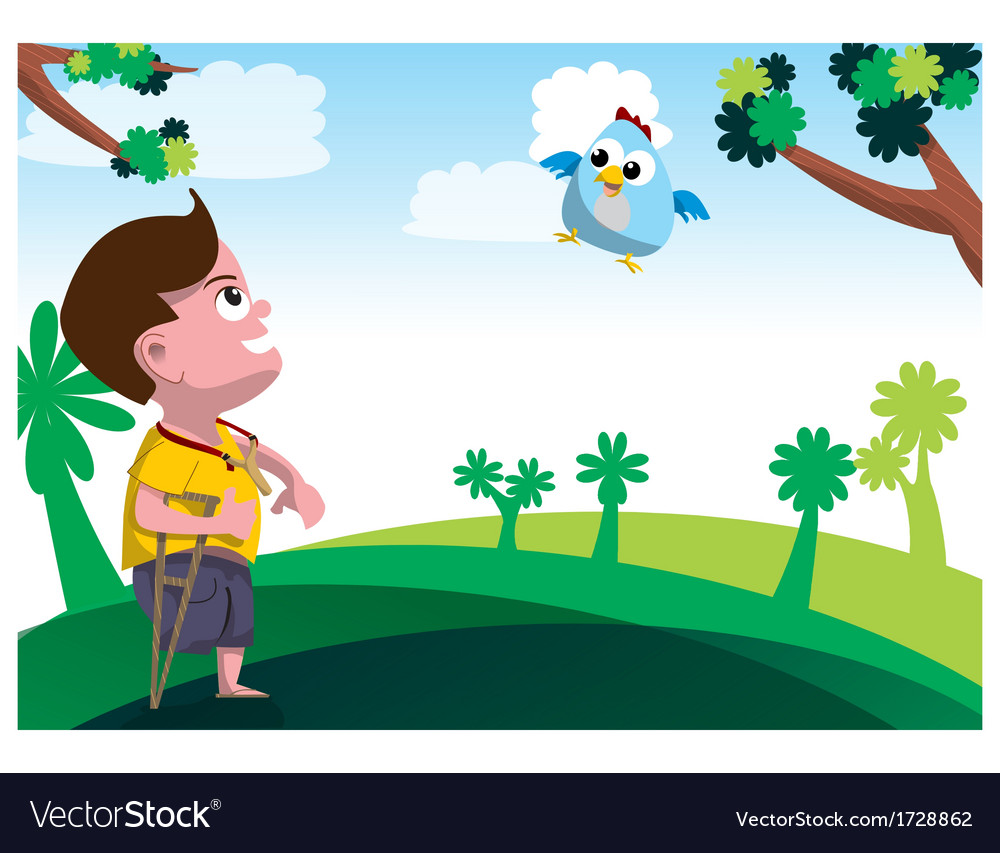 Child with disability vector | Price: 1 Credit (USD $1)