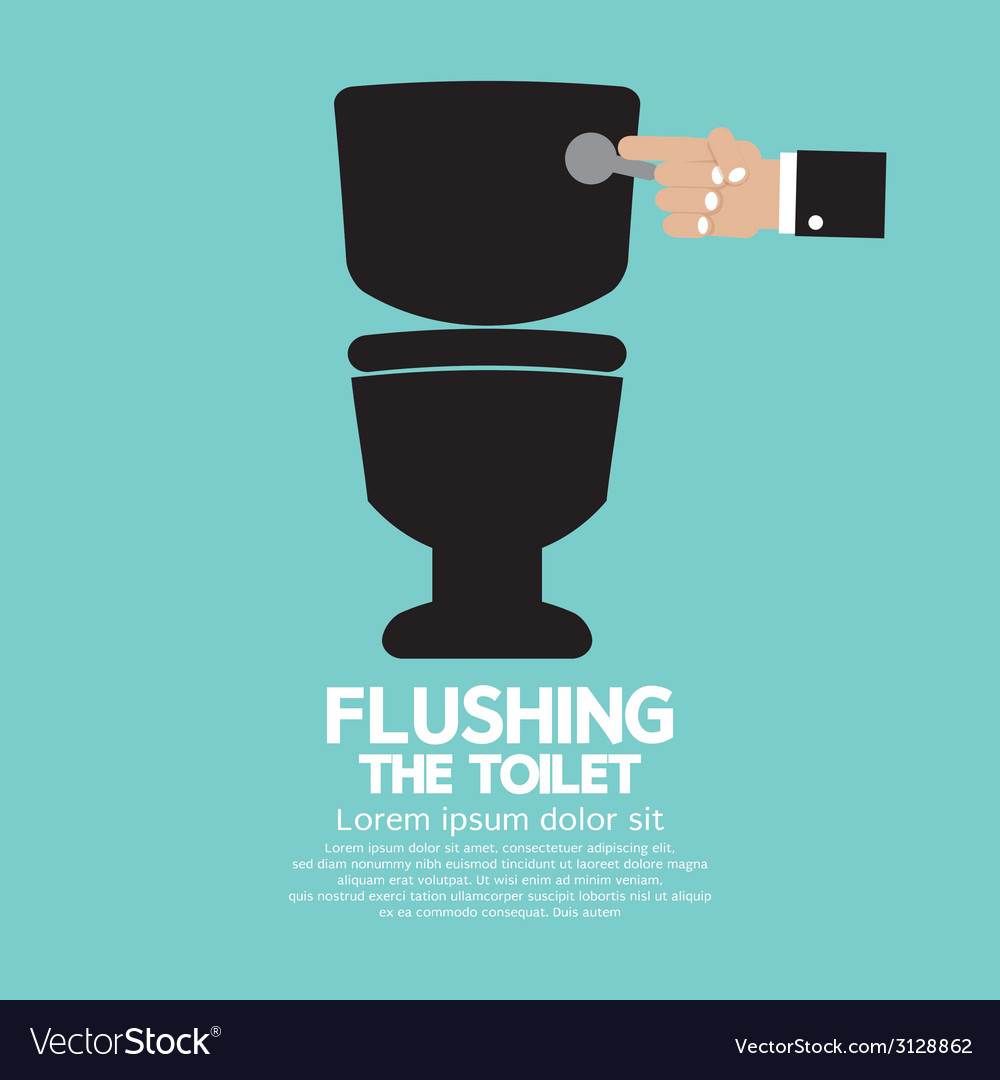 Flushing the toilet vector | Price: 1 Credit (USD $1)