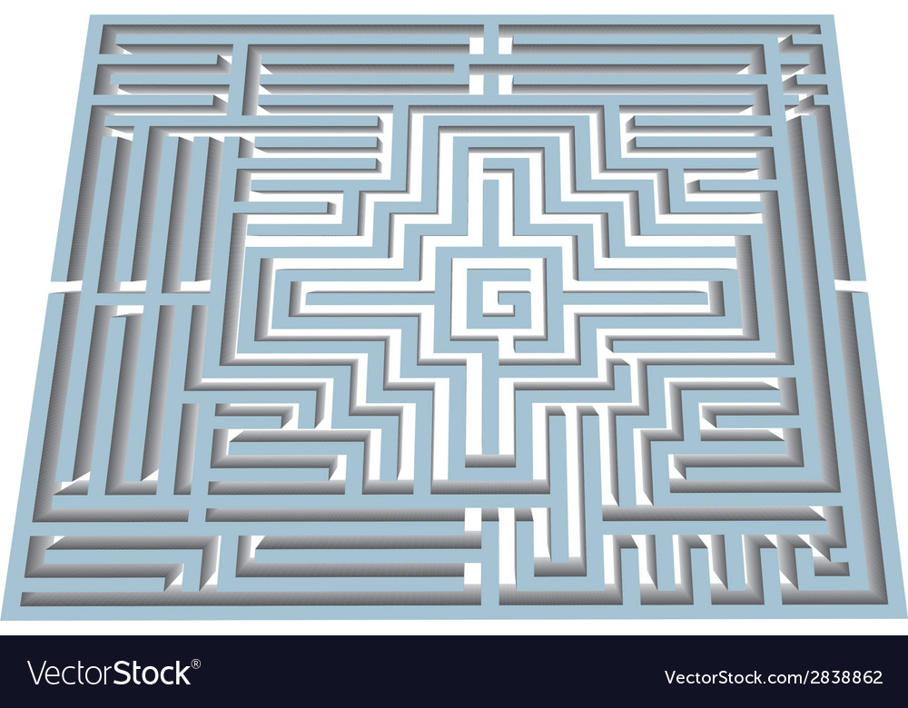 Labyrinth in perspective vector | Price: 1 Credit (USD $1)