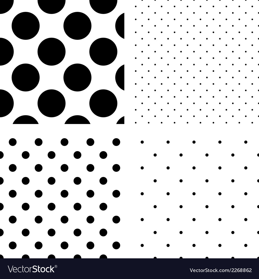 Polka dot seamless pattern set vector | Price: 1 Credit (USD $1)
