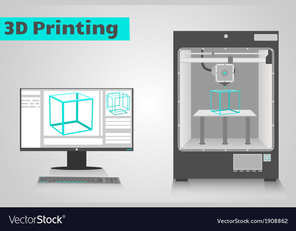 Printing in 3d vector | Price: 1 Credit (USD $1)