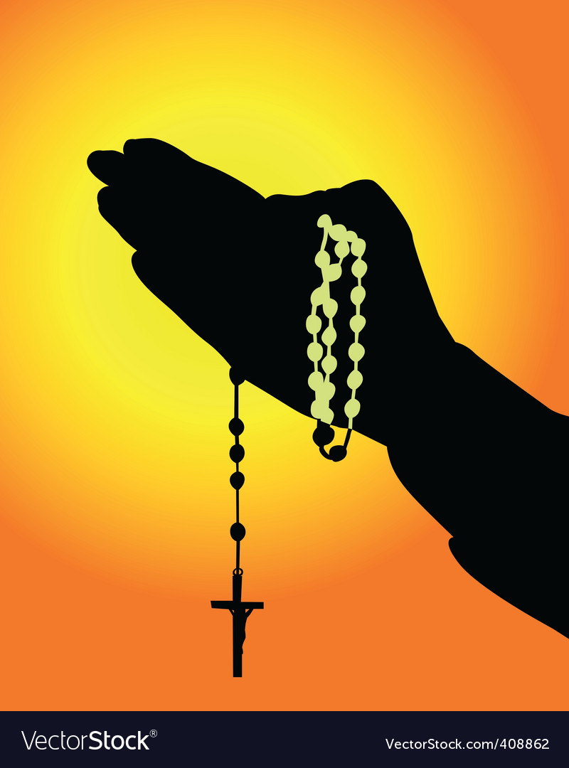 Rosary icon vector | Price: 1 Credit (USD $1)