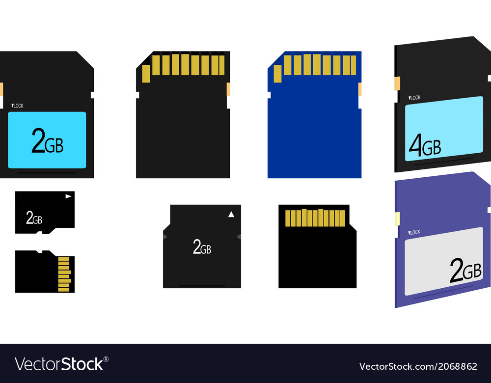 Sd card vector | Price: 1 Credit (USD $1)