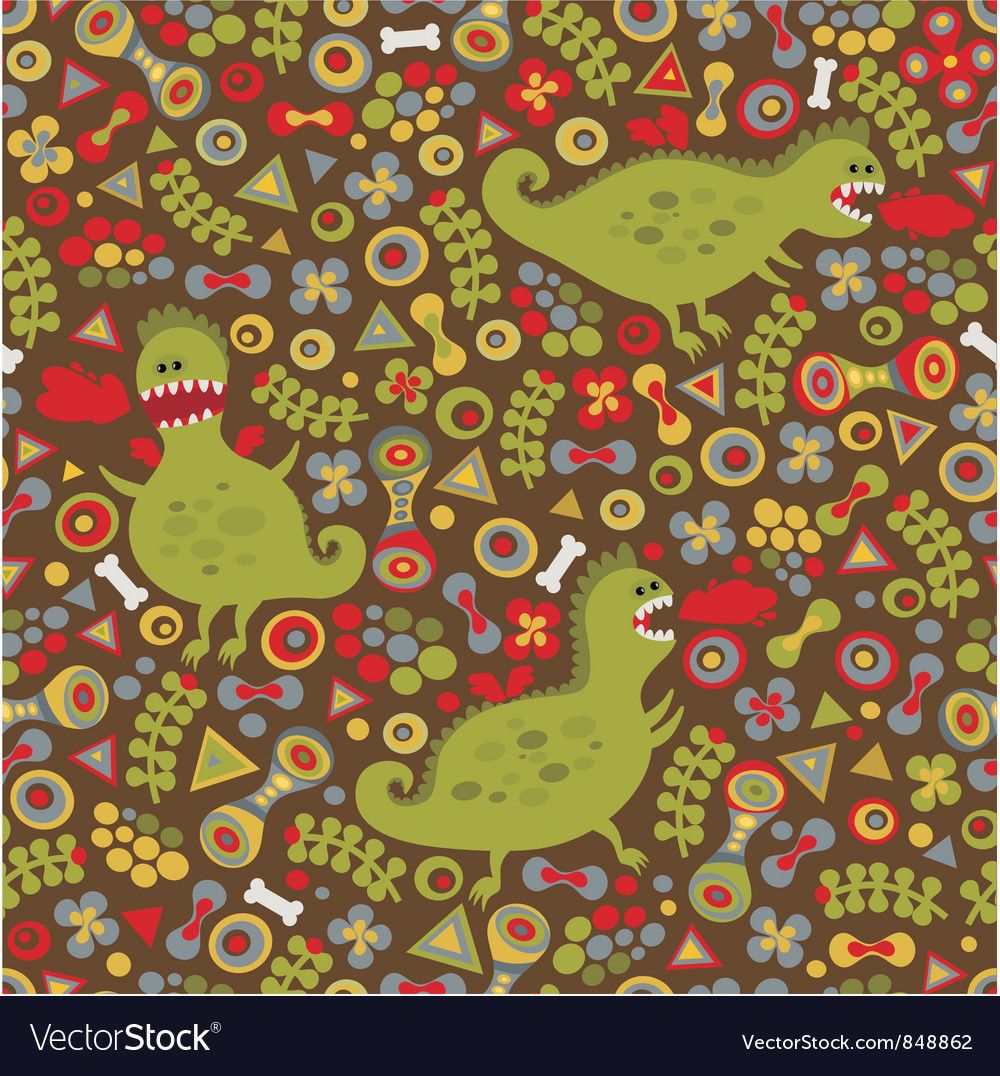Seamless dragons pattern vector   Price: 1 Credit (USD $1)