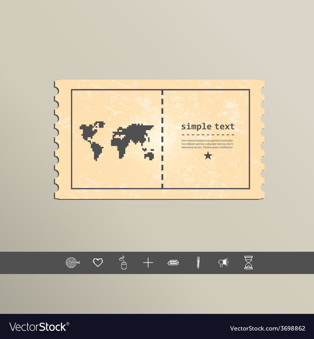 Simple style pixel icon continents design vector | Price: 1 Credit (USD $1)