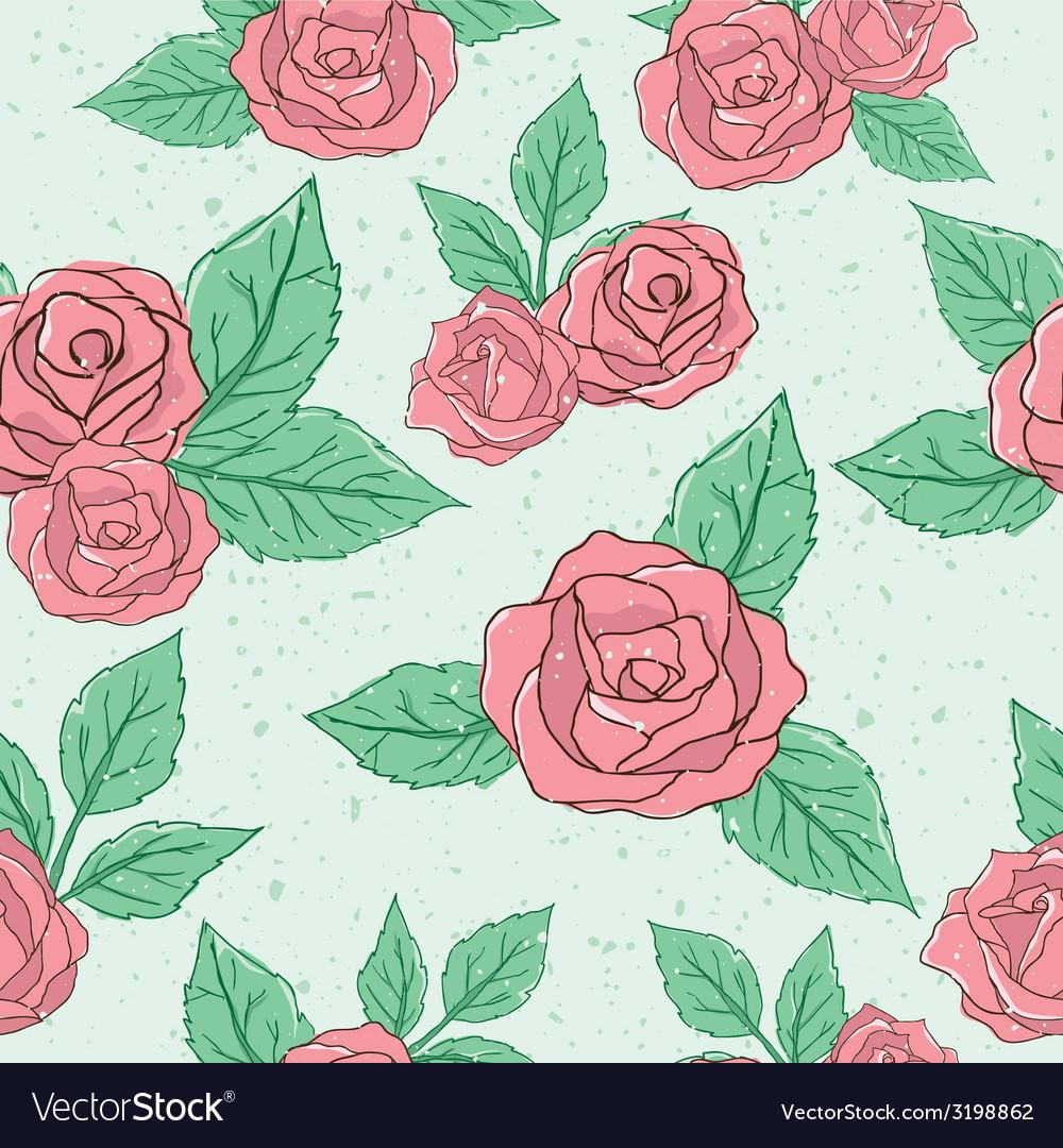 Vintage rose pattern vector   Price: 1 Credit (USD $1)