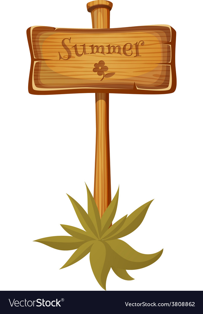 Wooden sign post vector | Price: 1 Credit (USD $1)
