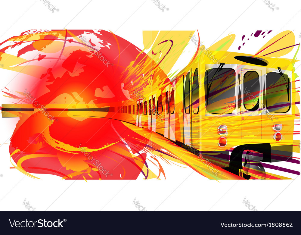 Yellow subway background vector | Price: 1 Credit (USD $1)