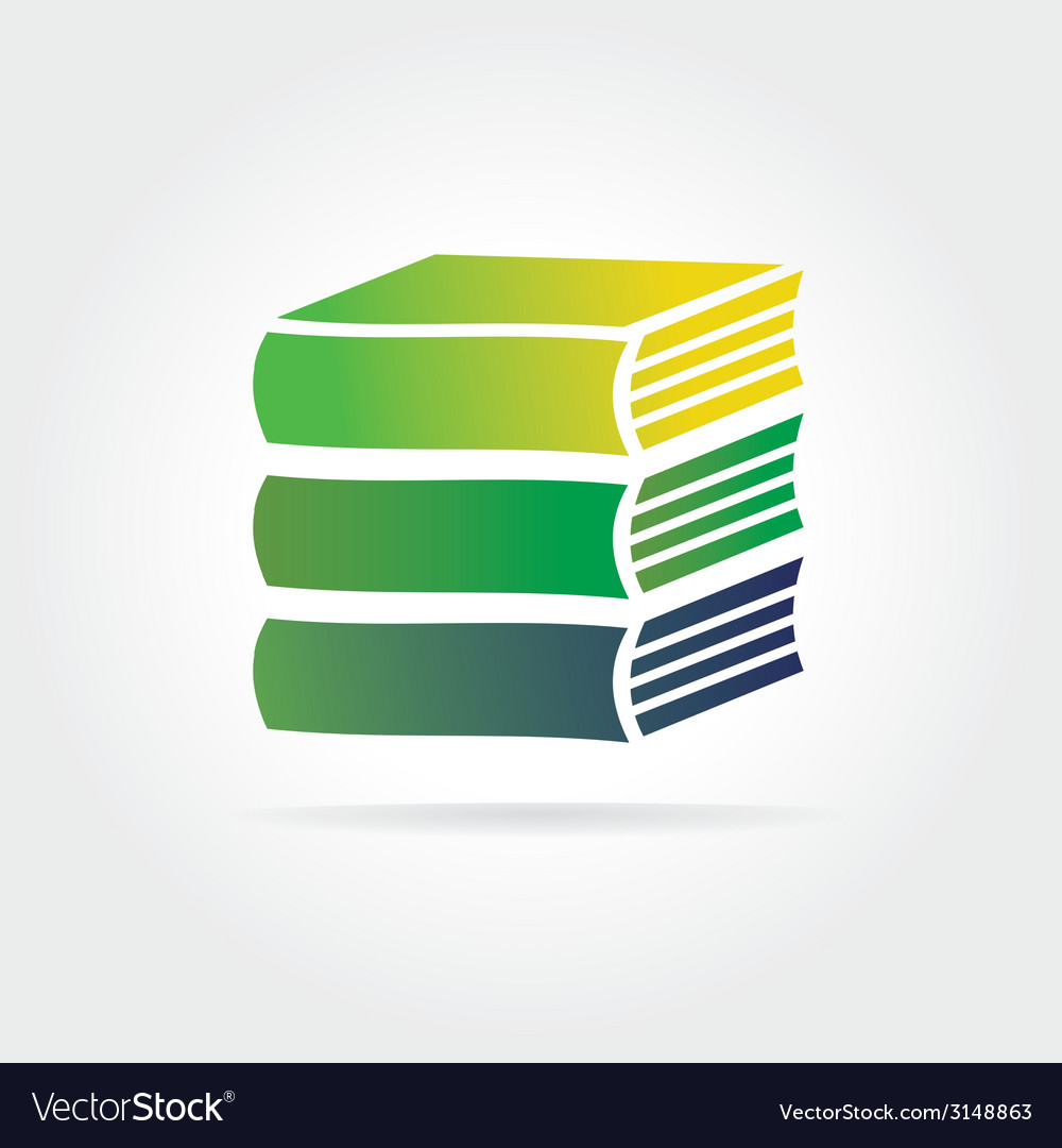 Books icon isolated on white background vector | Price: 1 Credit (USD $1)