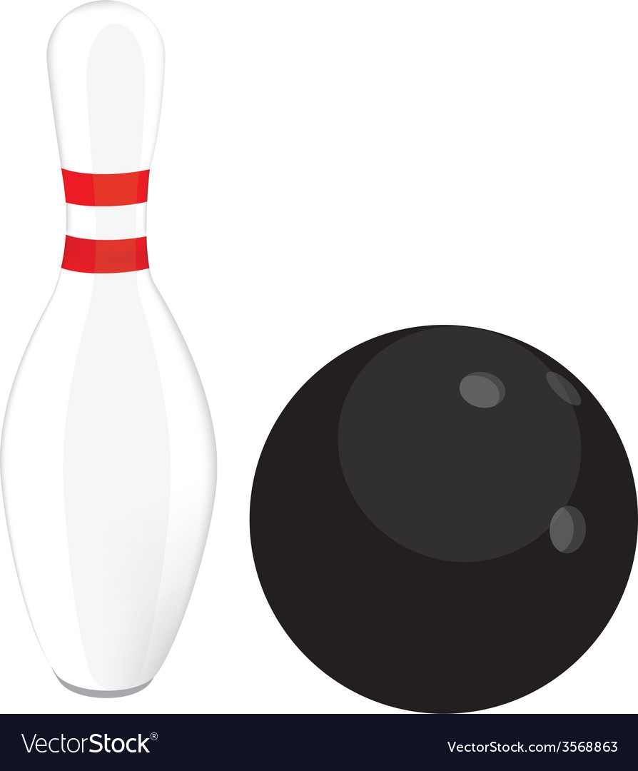 Bowling ball and pin vector | Price: 1 Credit (USD $1)