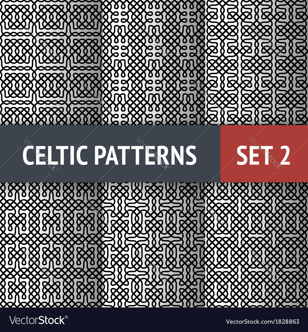 Celtic patterns set vector | Price: 1 Credit (USD $1)