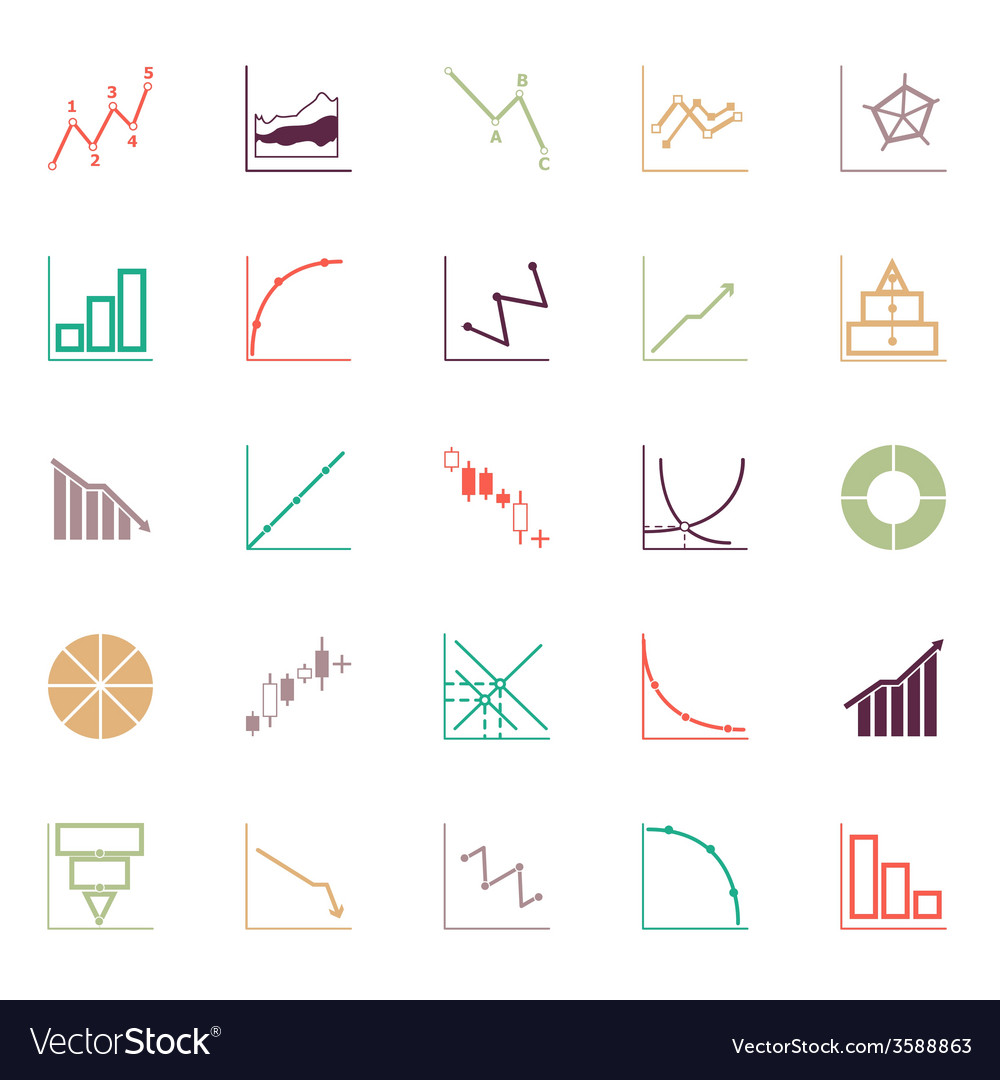 Economic and investment diagram line icon flat vector | Price: 1 Credit (USD $1)