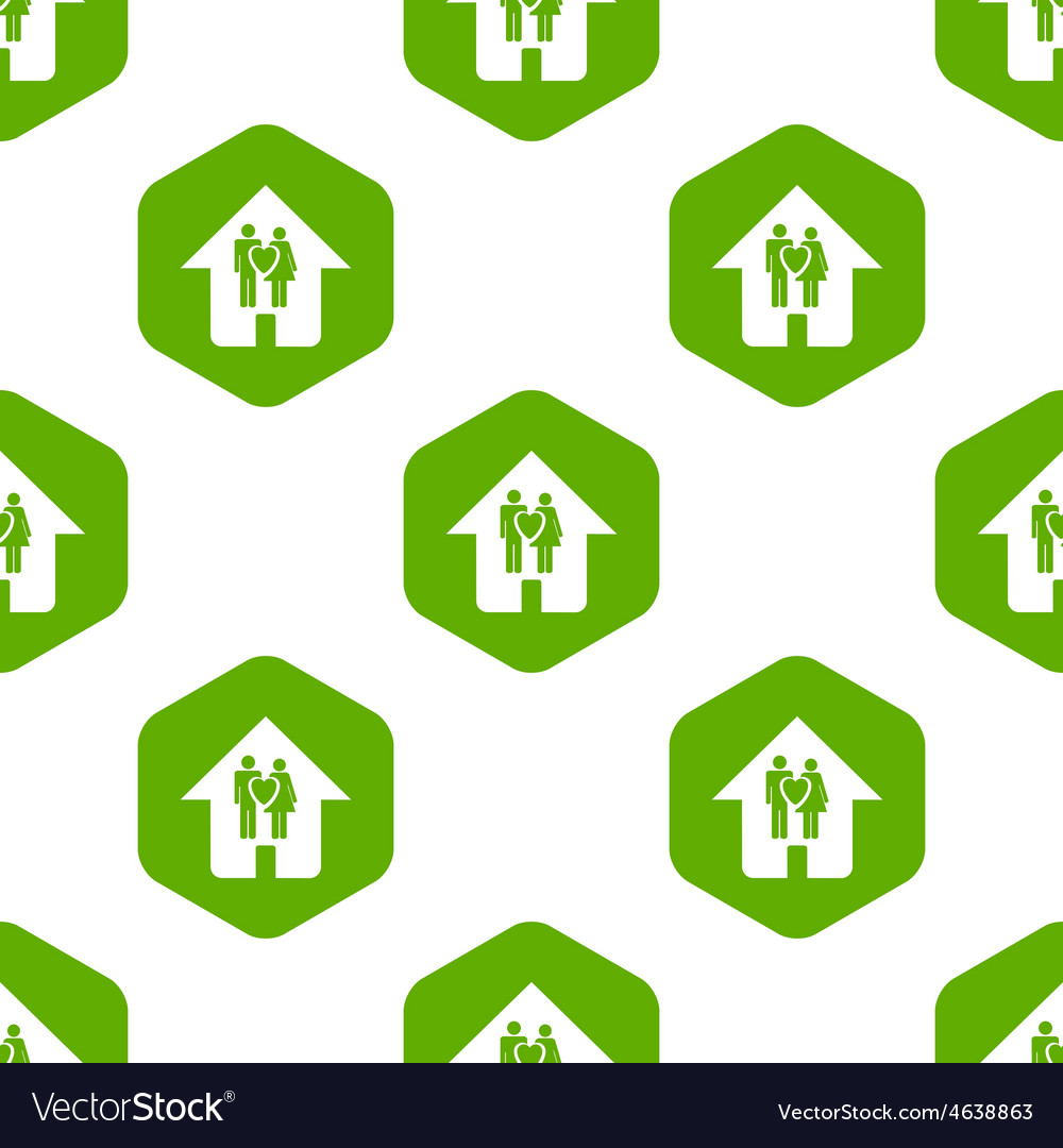 Family house pattern vector | Price: 1 Credit (USD $1)