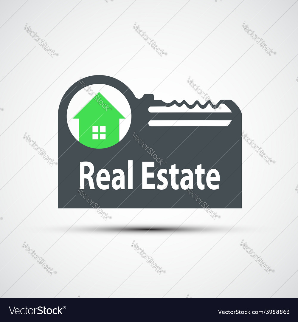 Icon of real estate vector | Price: 1 Credit (USD $1)