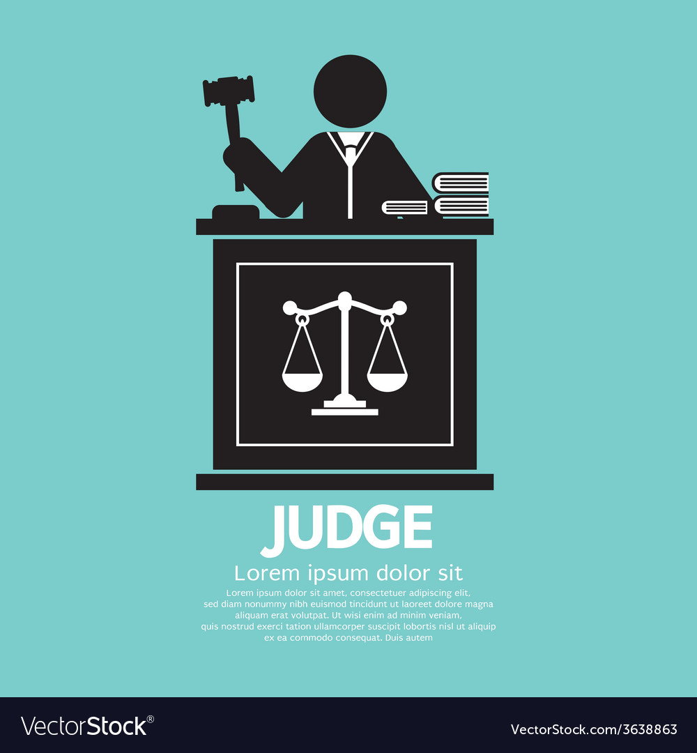 Judge with gavel symbol graphic vector | Price: 1 Credit (USD $1)