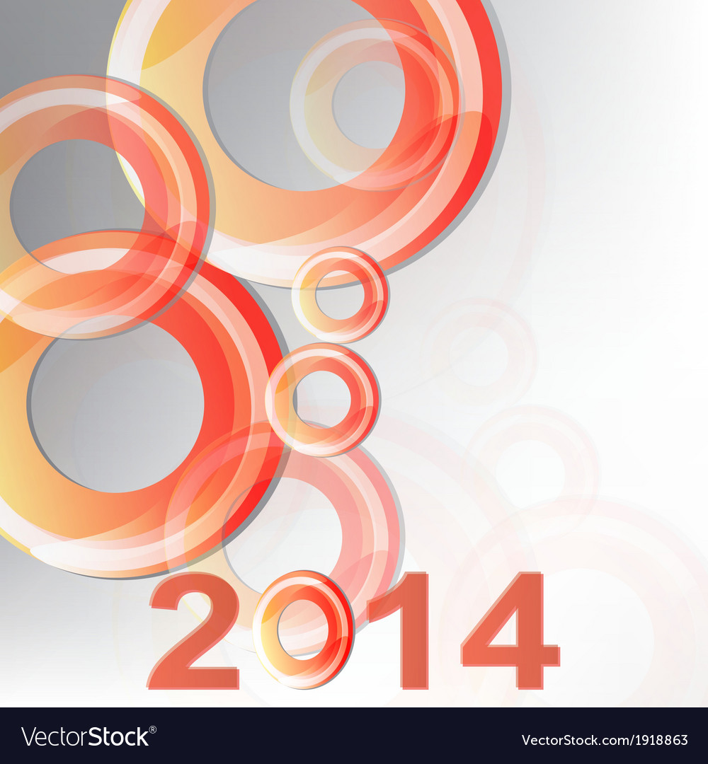 New year 2014 in white background vector | Price: 1 Credit (USD $1)