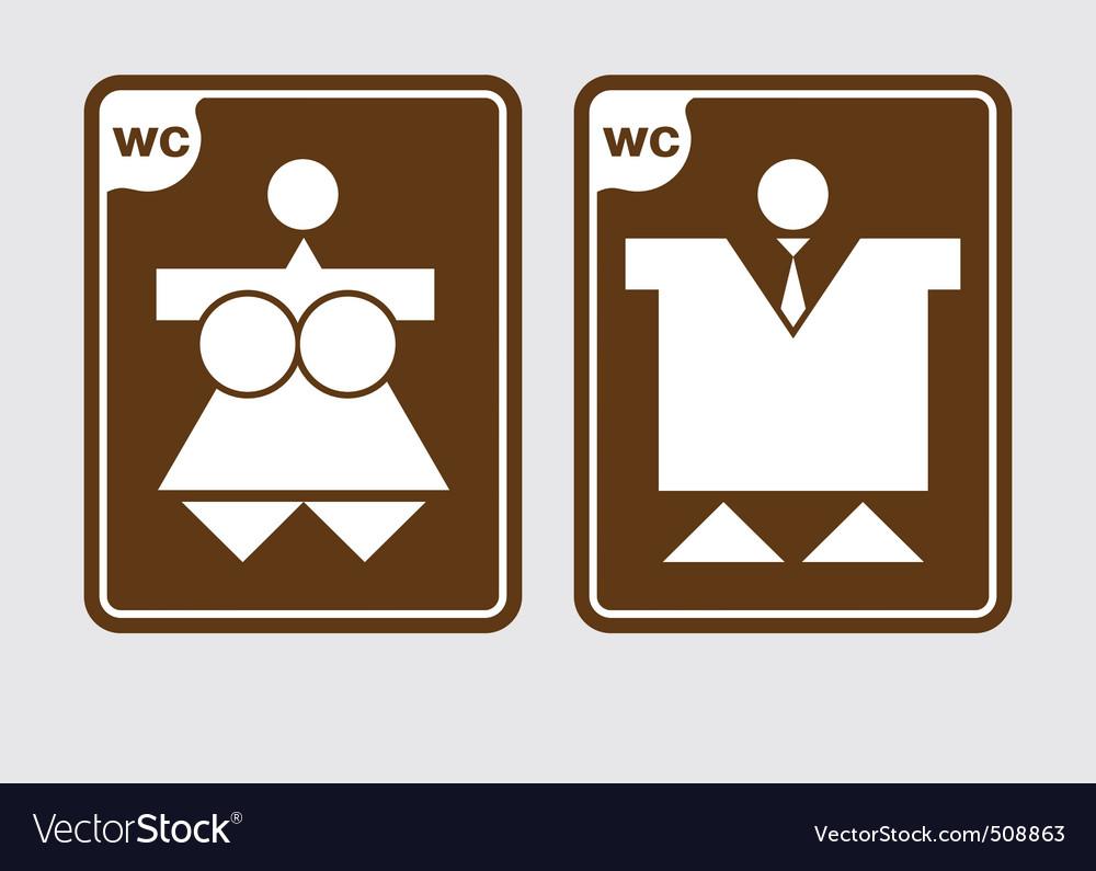 Toilet symbols wc vector | Price: 1 Credit (USD $1)