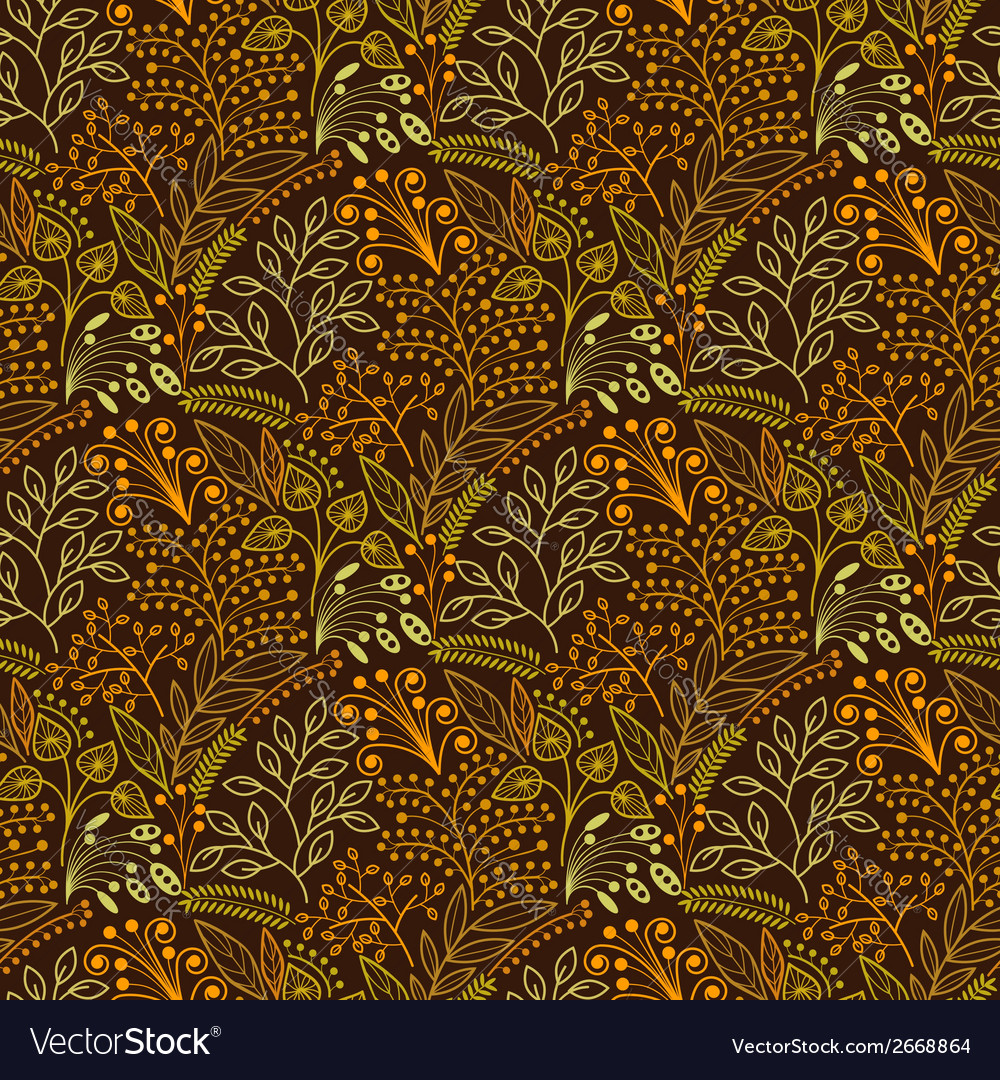 Brown floral scales seamless pattern vector   Price: 1 Credit (USD $1)