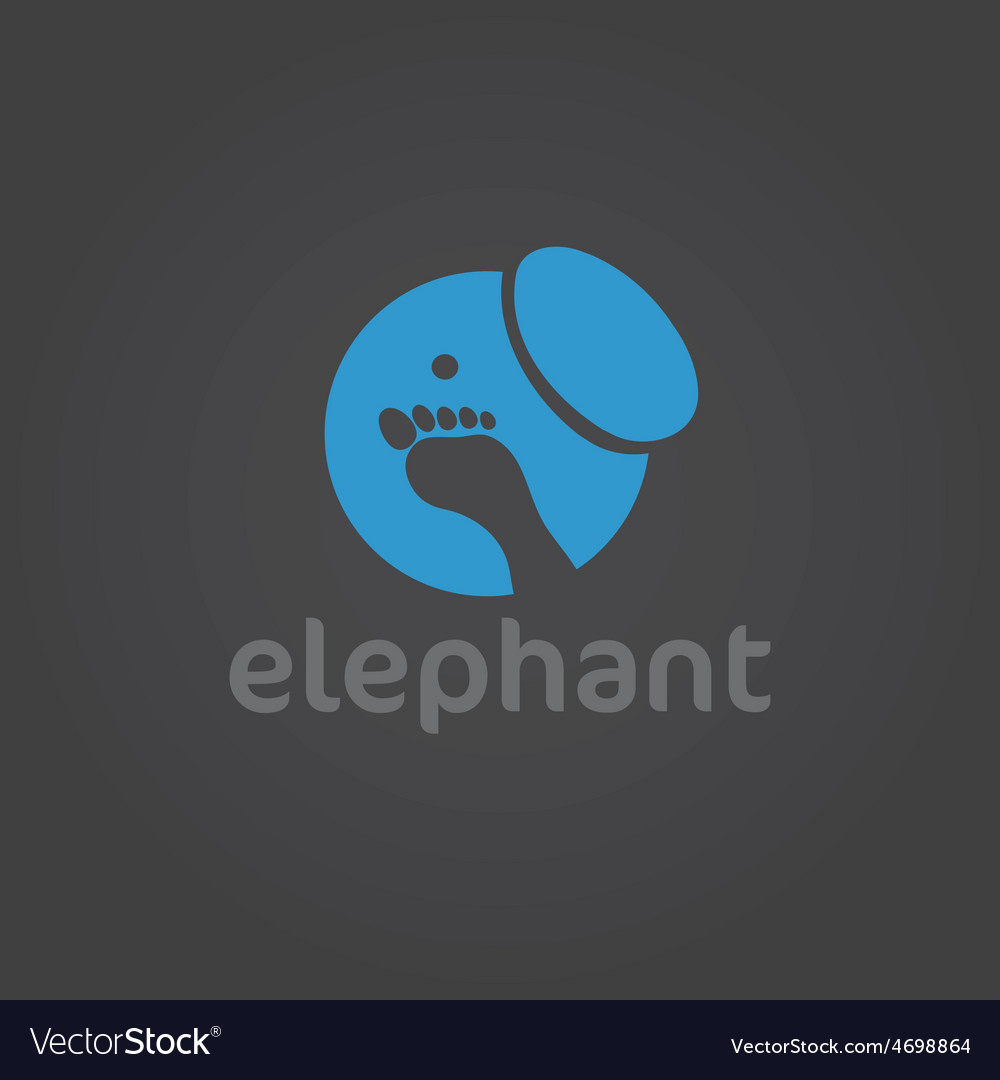 Elephant silhouette design template vector | Price: 1 Credit (USD $1)
