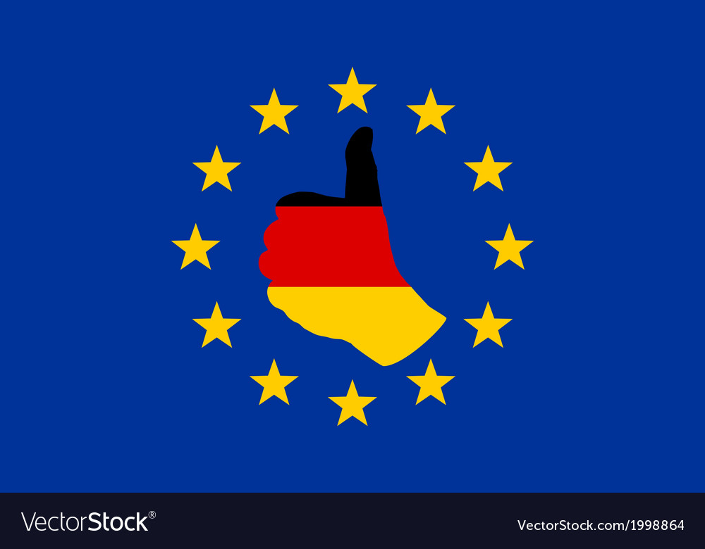 German finger signal in europe vector | Price: 1 Credit (USD $1)