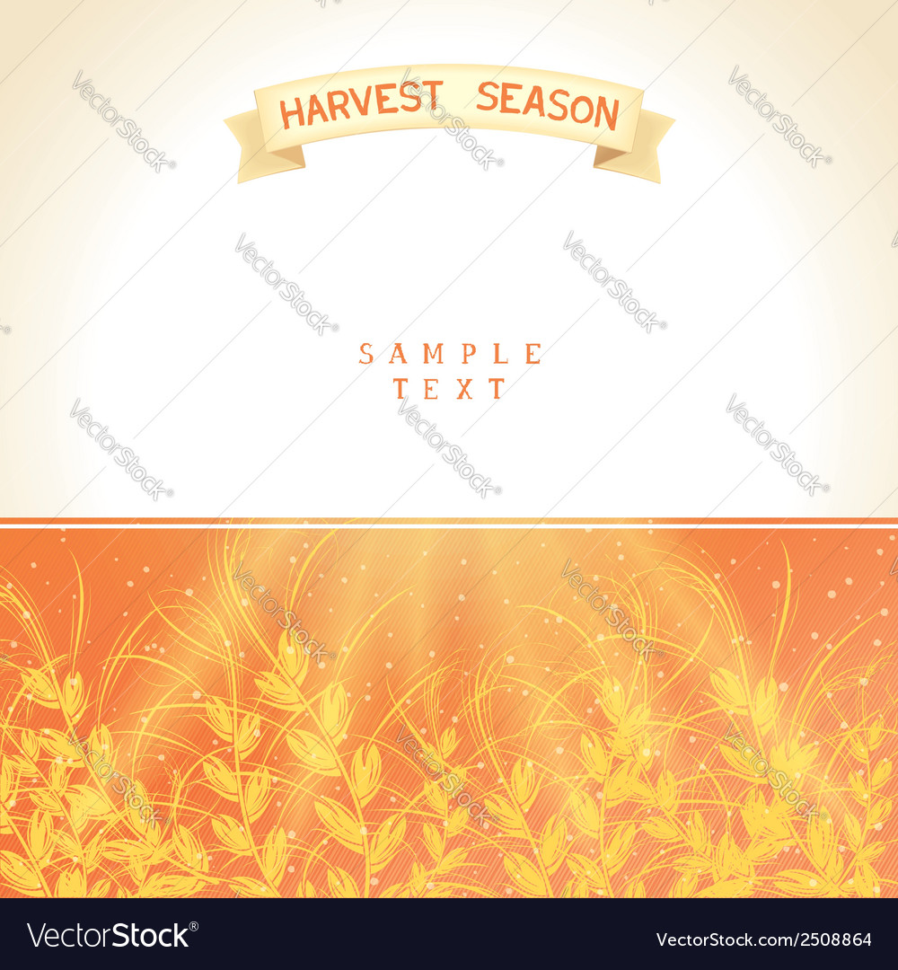 Harvest season vector | Price: 1 Credit (USD $1)