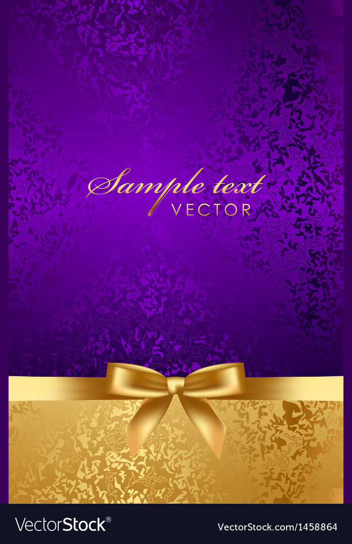 Luxury background with gold bow vector | Price: 1 Credit (USD $1)