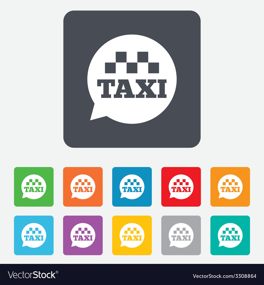 Taxi speech bubble sign icon public transport vector | Price: 1 Credit (USD $1)